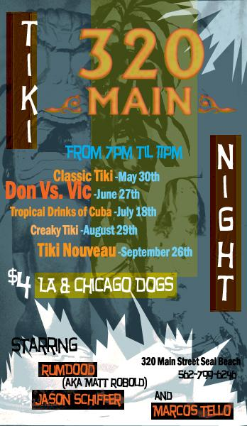 320 Main Tiki Night Flyer