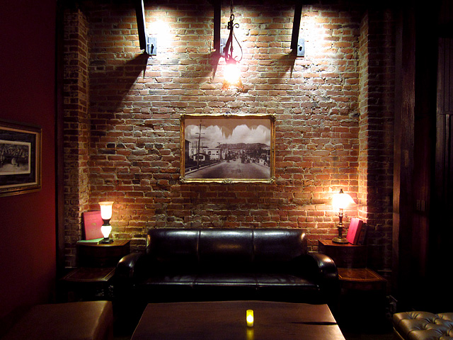 Sofa and Brick Wall