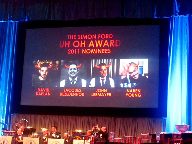 Simon Ford Uh Oh Award Nominees