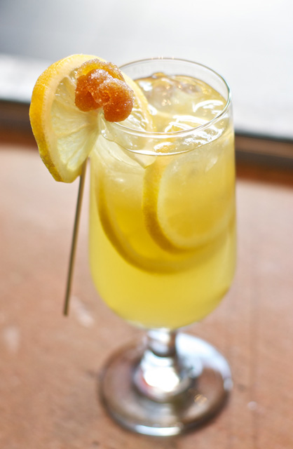 Gingered Bourbon Lemonade