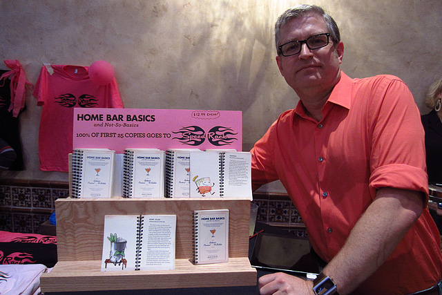 Home Bar Basics booth at Speed Rack LA