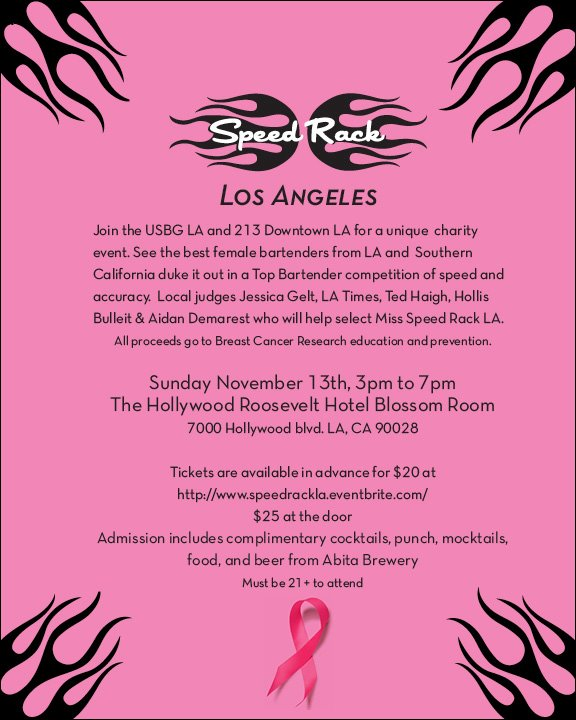 Speed Rack LA flyer