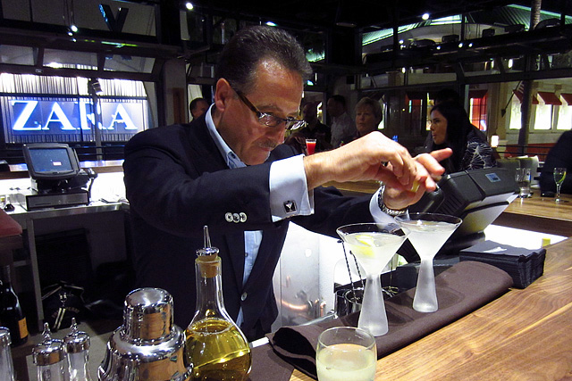 Salvatore Calabrese makes House Martinis