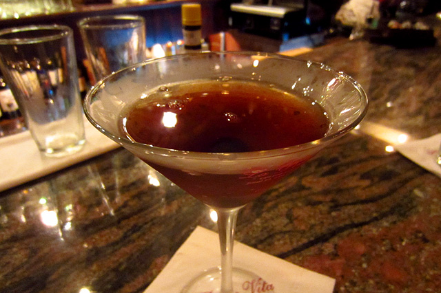 Classic Manhattan at La Dolce Vita