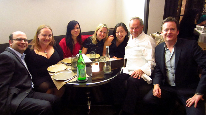 Blogger Barhop 3 crew with Wolfgang Puck