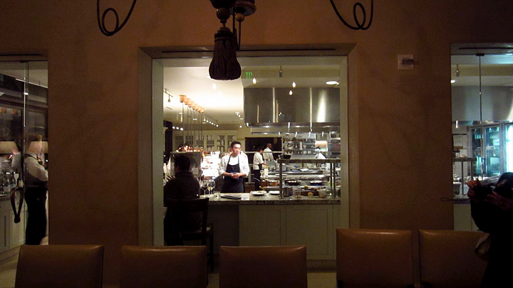 Scarpetta kitchen viewed from the Chef's Table