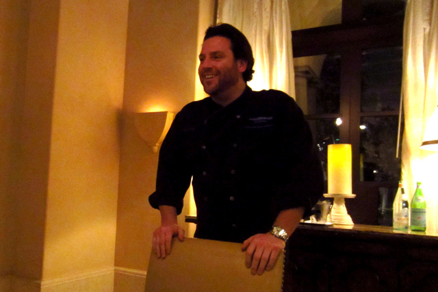 Scott Conant in the Chef's Table at Scarpetta