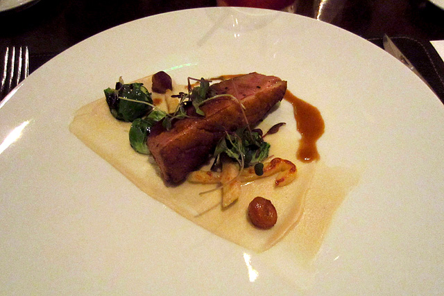 Spiced duck breast at Scarpetta