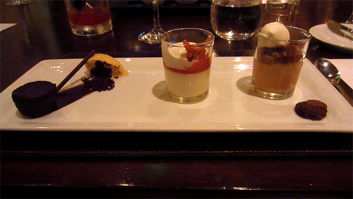 Dessert trio at Scarpetta