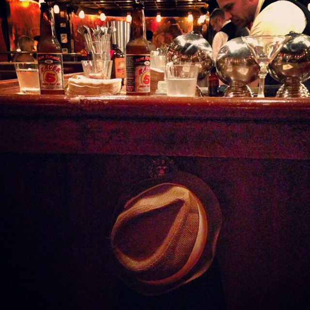 Carpi's fedora at The Roger Room