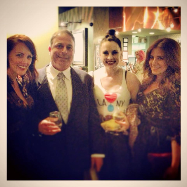 "Carpi and LA bartenders at ""Hey Bartender"" premiere"