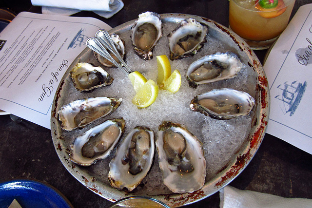 Oysters on the half shell at Son of a Gun