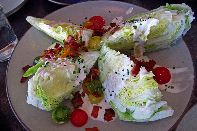 Iceberg wedge salad at Son of a Gun