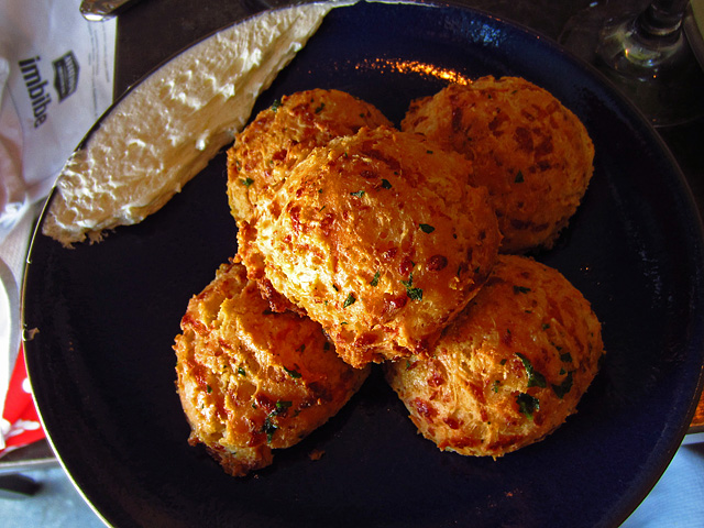 Cheddar Bay biscuits at Son of a Gun