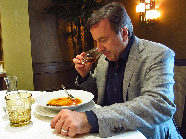 Daniel Boulud nosing The Dalmore single malt Scotch whisky.