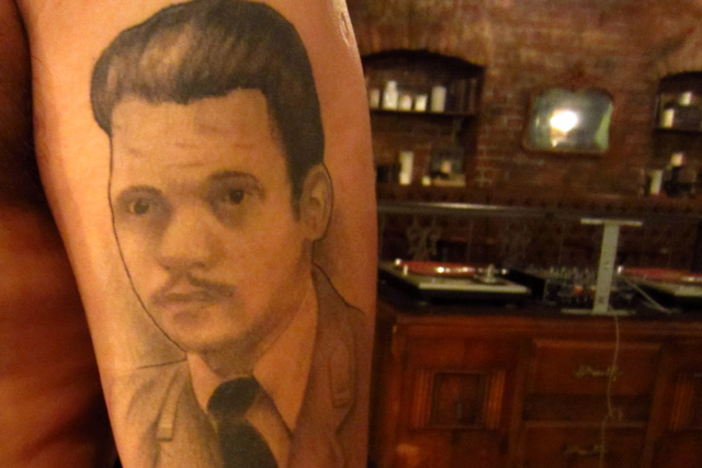 Tattoo of François Vera's grandfather, Stanislaw