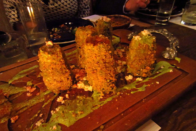 Roasted corn on the cob at TRAVELocal Mexico