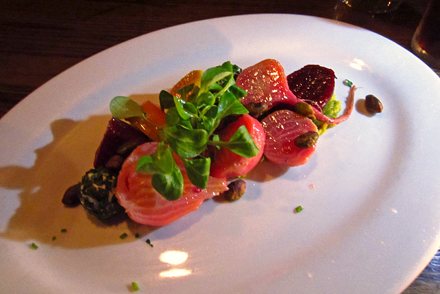 Heirloom beet salad at The Corner Door