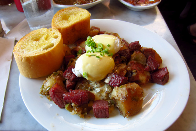 Boar's Head pastrami and corned beef hash at Stanley