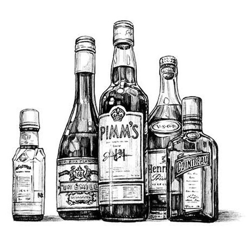"An illustration by Tim Tomkinson for ""Death & Co: Modern Classic Cocktails"""