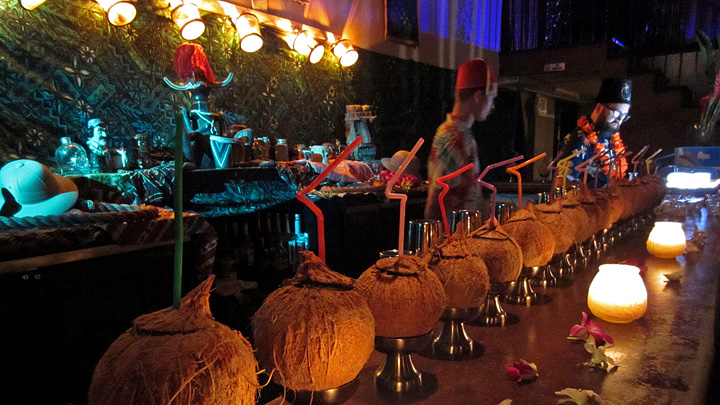 Coconut cocktails at The Coconut Club