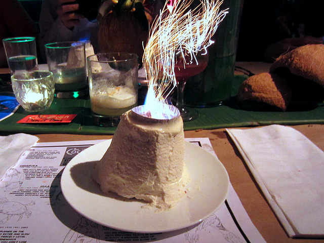 VOLCANO Cake at The Coconut Club