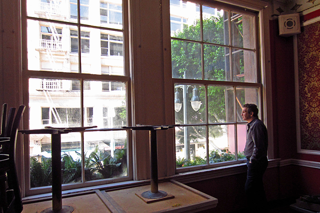 Feb. 8, 2012: From the third floor of Clifton's Cafeteria, owner Andrew Meieran looks out on Broadway.
