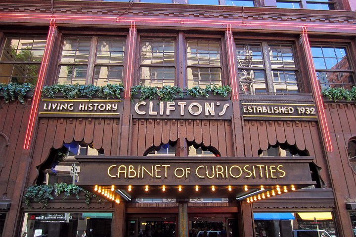 Clifton's Cafeteria entrance