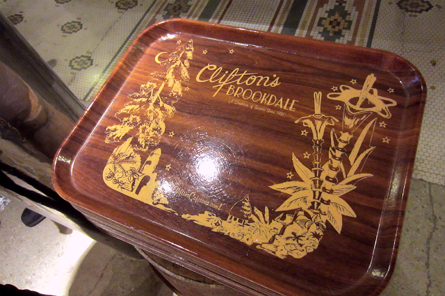 Clifton's Cafeteria tray
