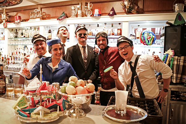 The Big Bar crew is ready for takeoff on New Year's Eve 2014.