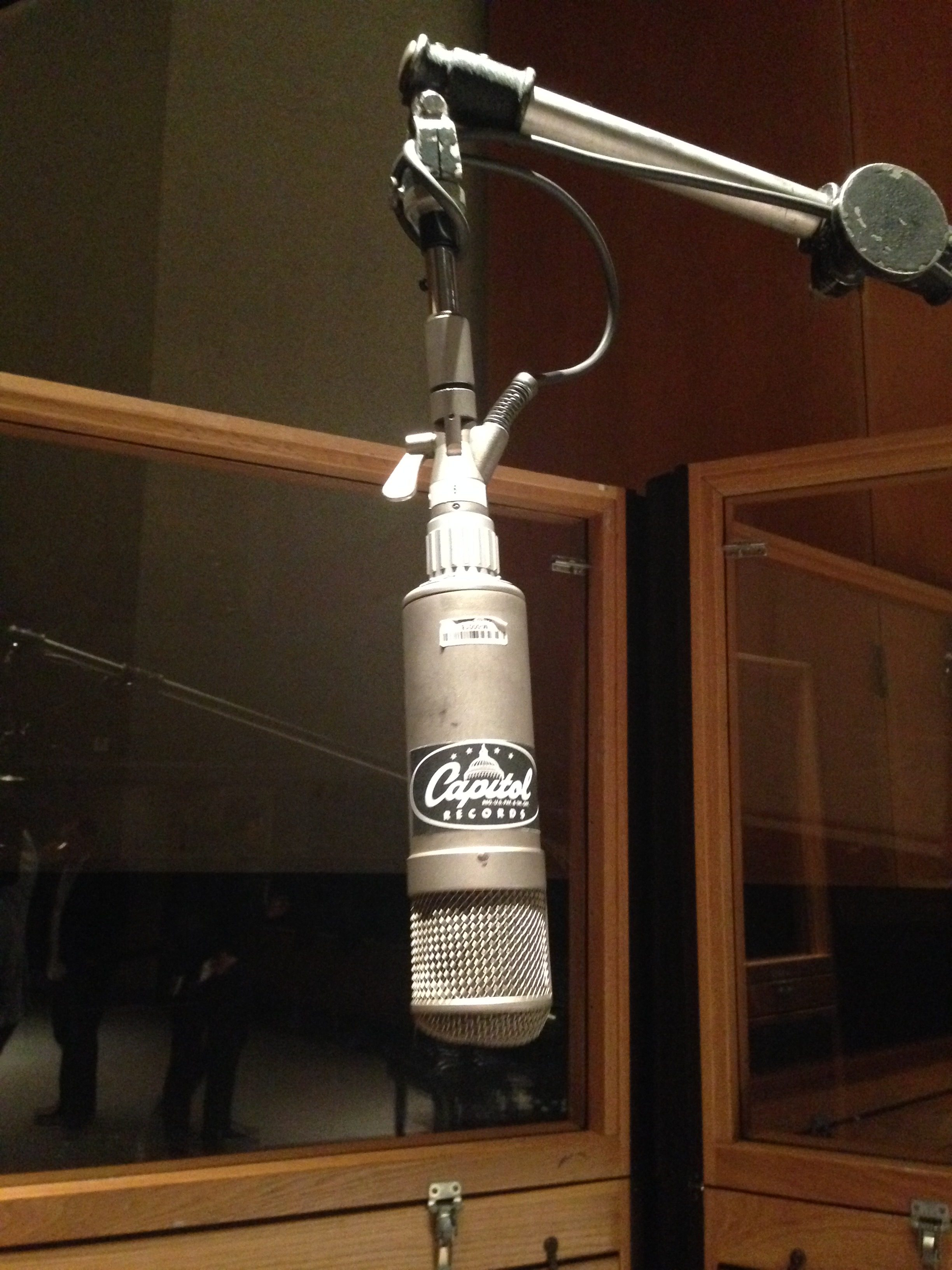 The Frank Sinatra microphone at Capitol Studios