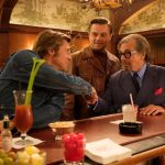 "Brad Pitt, Leonardo DiCaprio and Al Pacino at Musso & Frank Grill in ""Once Upon a Time in Hollywood"""