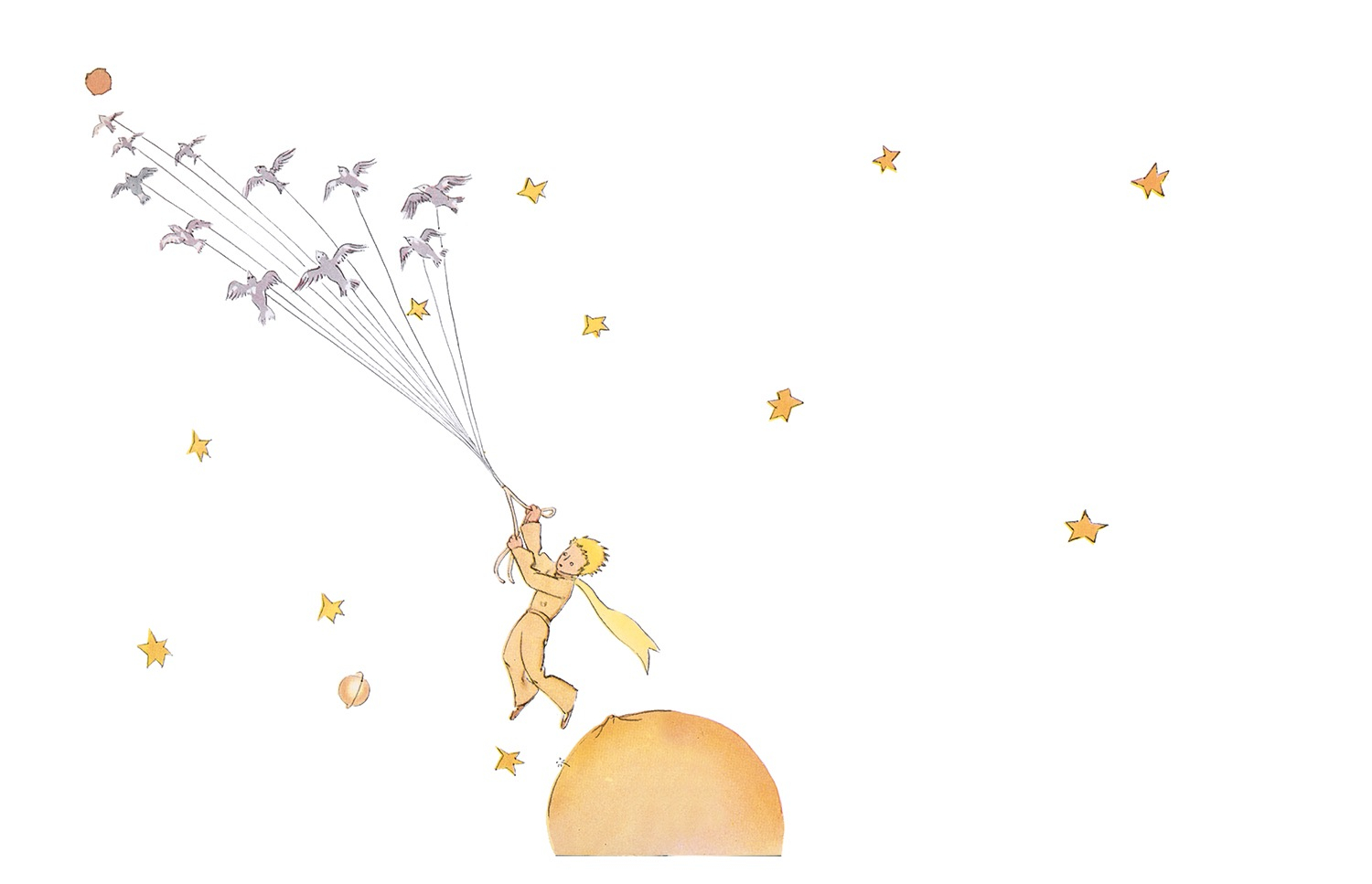 """The Little Prince"" illustration by Antoine de Saint-Exupéry"